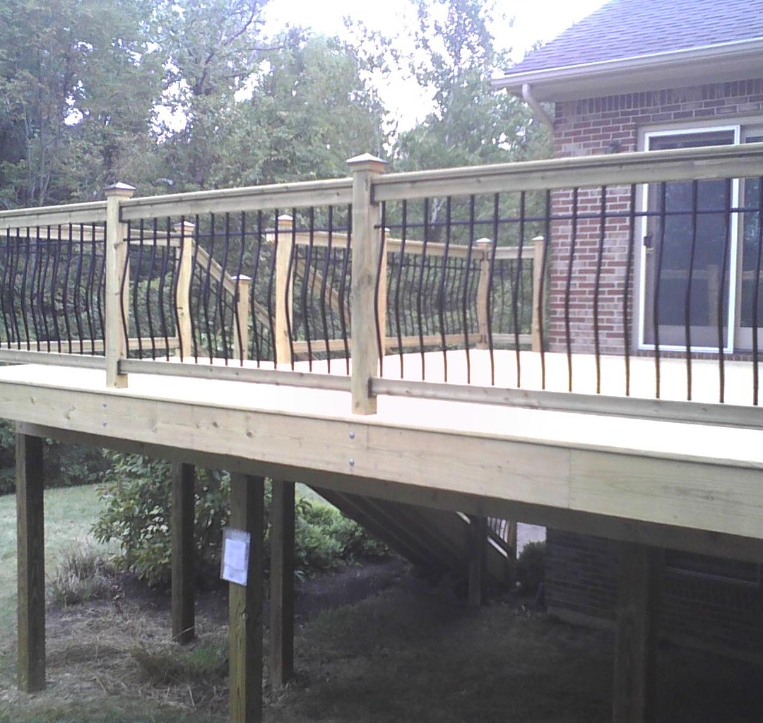 Wood Deck with Menards Aluminum Balusters