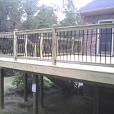 Wood Deck with Menards Aluminum Balusters