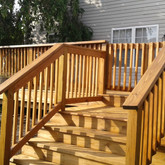 Deck Build with Stain