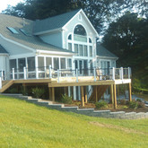 Wood Deck with Afco 100 Series Aluminum Railing
