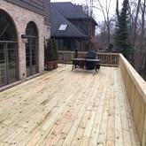 wood deck and rail