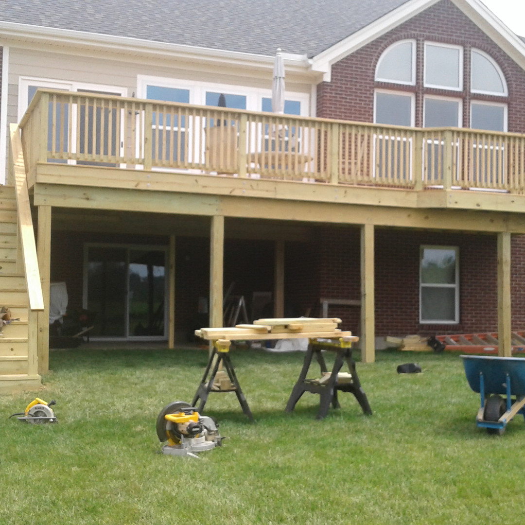 Deck build in progress