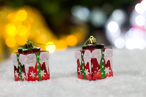 Caja bolas de regalos x6