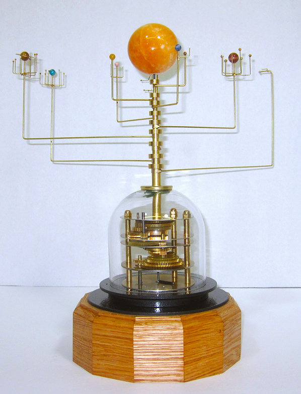 Orrery moving model of the solar system kinetic fine a t model with all 9 planets revoing in correct relative motion science gift