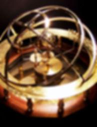 brass orrery handcrank