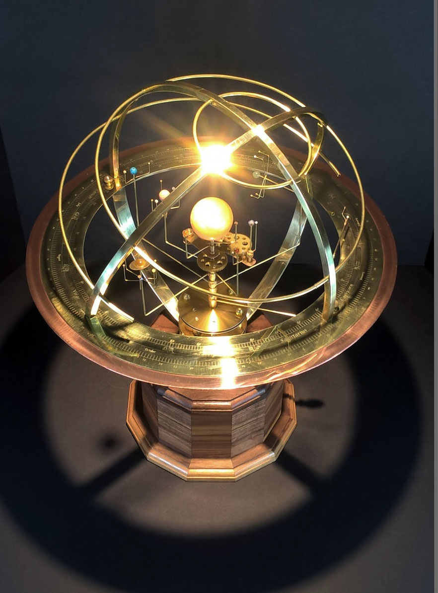 Tower Orrery in Walnut and Stone