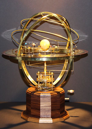 Tower Orrery moving model of solar system