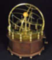 Grand Orrery Science Art Piece Orrery moving mechanical model of the solar system planetary model in brass and zodiac ring and armillery sphere astronomy instrument