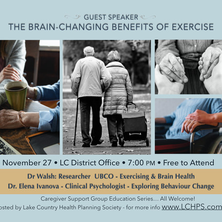 CSG Speaker Series: The Brain-Changing Benefits of Exercise - Lake Country