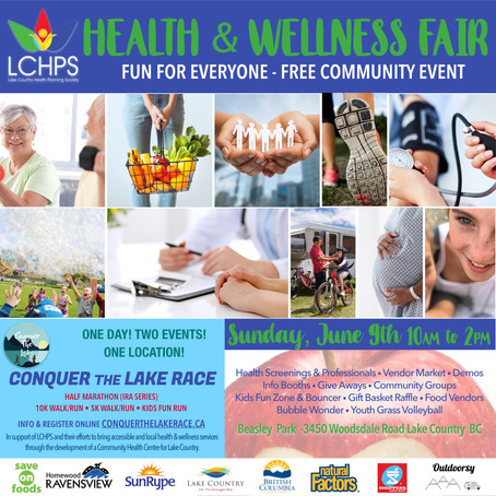 Learn. Win. Play. Connect. Prevent. Lake Country Health & Wellness Community Fair