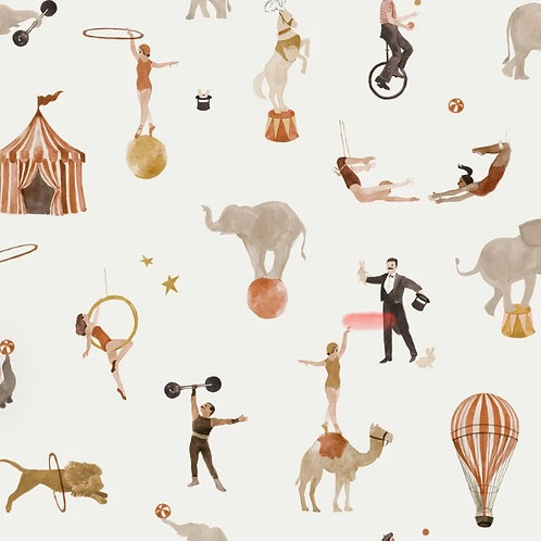 Circus Print Romper