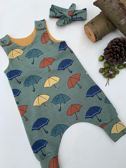 Umbrella Print Romper