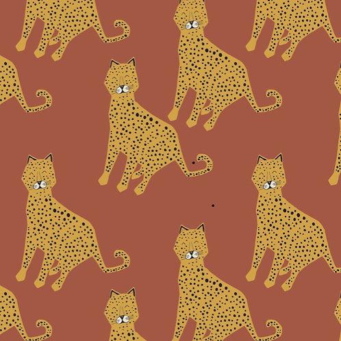 Rust Leopard Print Sweatshirt