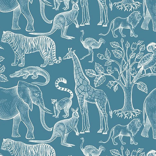 Exotic Animals Print Dress