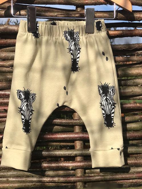 Khaki Zebra Leggings