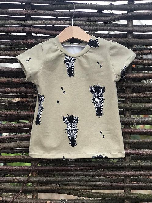 Khaki Zebra T-shirt