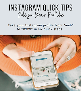 Instagram quick tips to polish your profile.