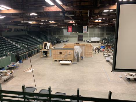Movie Setup, Butte Civic Center
