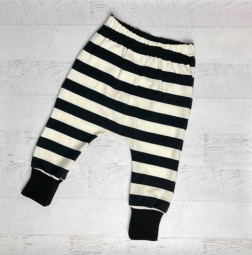 Bold Stripe Jersey Cotton Harem Pant