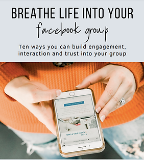 Breathe life into your Facebook Group.