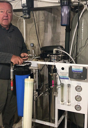 Farm Freshwater Dugout How to change reverse osmosis membrane filter