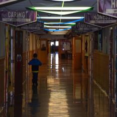 Poplar Elementary School Hallway