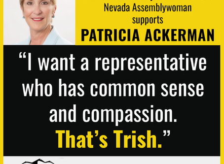 Chris Giunchigliani endorses Patricia Ackerman for NV-02