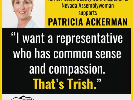 Chris Giunchigliani endorses Patricia Ackerman for NV-02