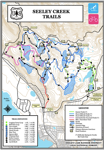 Seeley Nordic Trail Map