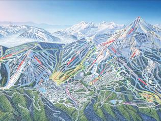 Big Sky Resort Ski Map