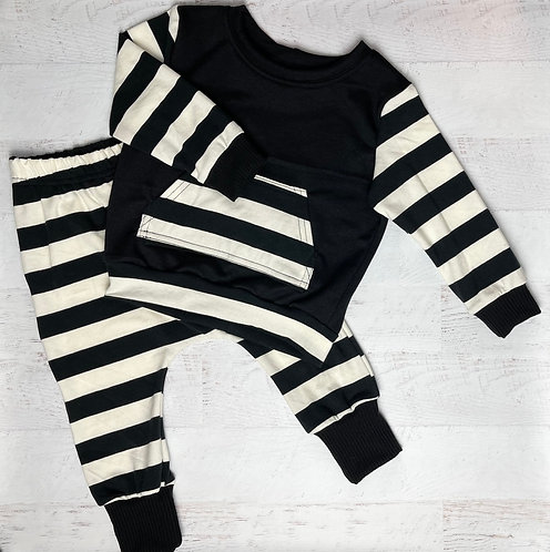 Bold Stripe Crew Sweatshirt & Harem Pant