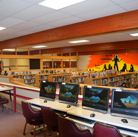 Poplar High School Library