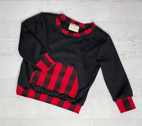 Red Buffalo Crew Sweatshirt
