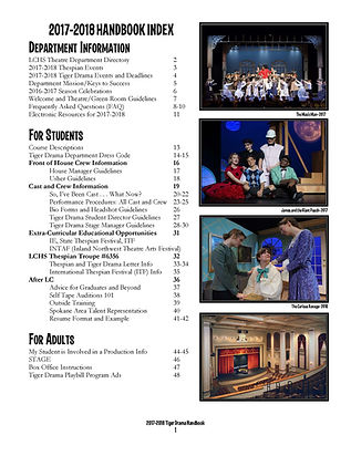 Tiger Drama Handbook Index