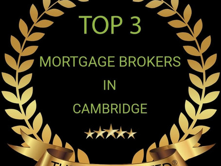 I am Rated Top 3 Mortgage Broker in Cambridge!
