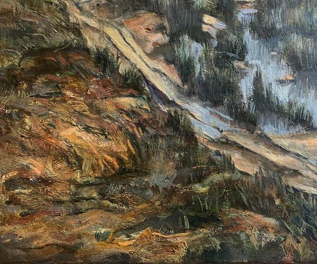 Detail of Dullstroom Dam. 2019
