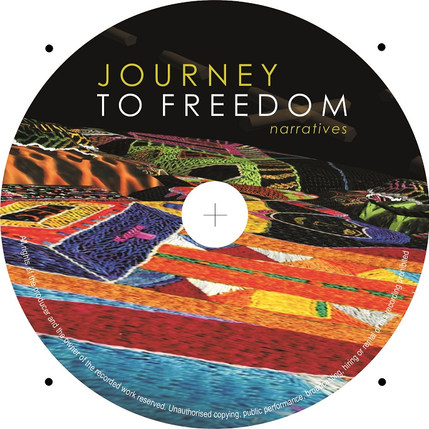 The Journey to Freedom narratives DVD disc design