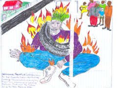 The Journey to Freedom narratives. Tyre burning Necklace drawing