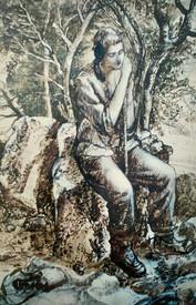 Sanctuary, detail (selfportrait). 1993