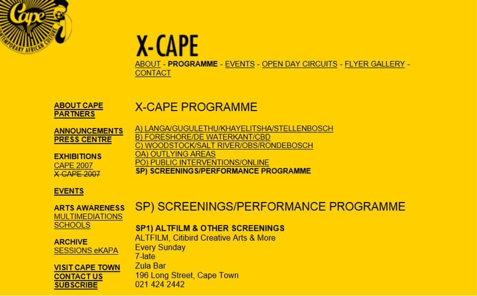 X-Cape program Altfilm