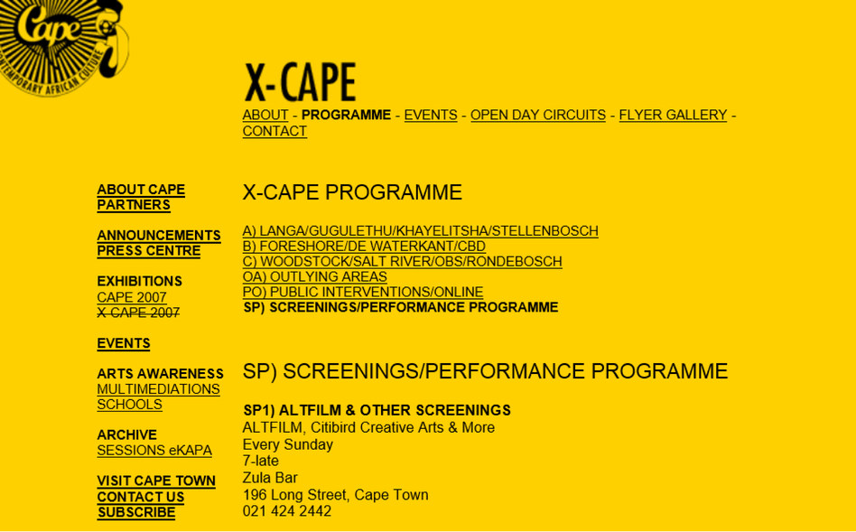 X-Cape program Altfilm