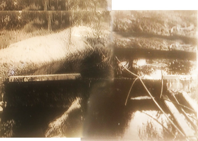 Photographs of dam 1 collated and transferred to transparancy