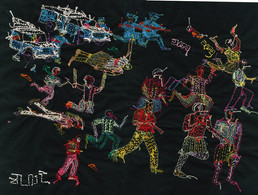 The Journey to Freedom narratives. PoliceThe Journey to Freedom narratives, Shooting Back of embroidery