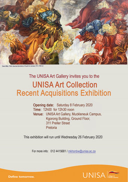 Invitation to UNISA Art Collection Recent Acquisitions Exhibition