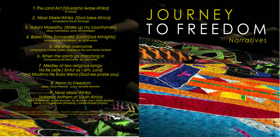 The Journey to Freedom narratives, DVD front jacket