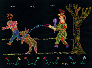 The Journey to Freedomo narratives. Woman Chased By Dog
