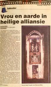 Beeld vrou en aarde in heilige alliansie. 1 Oktober 1997