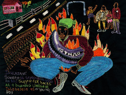The Journey to Freedom narratives. Burning tyre Embroidery