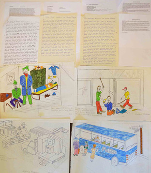 The Journey to Freedom narratives. Individual story and drawing planning for coal mines and oil boycots