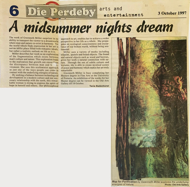 A midsummer nights dream. 3 October 1997